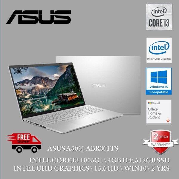 Asus A509J-ABR361TS 15.6 Laptop Transparent Silver ( I3-1005G1, 4GB, 256GB SSD, Intel, W10, HS ) Malaysia