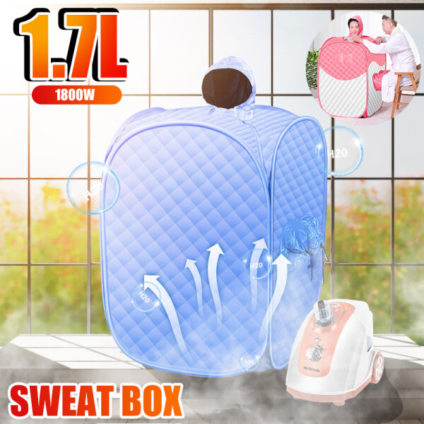 Buy 1.7L 1800W Home Steam Box, Sweat Steam Room, Detox, Foldable Steam Sauna Box, Home Fumigation Machine, Beauty Mother, Melasma Weight Loss Sauna Machine Singapore