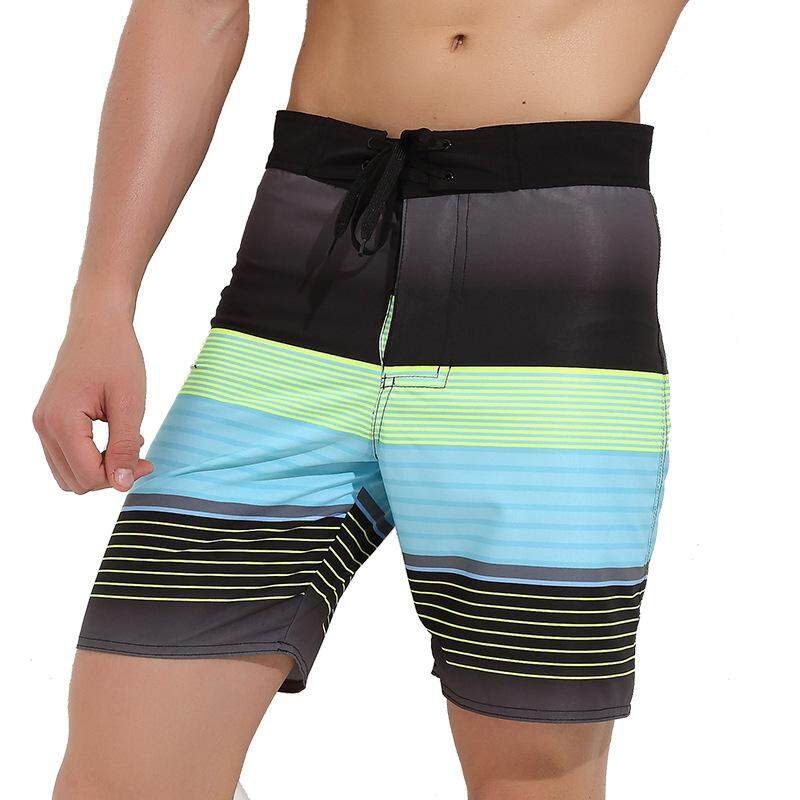 31bcdad305056 Men's Short Quick-drying Beach Pants Loose Elastic Casual Sports Shorts  Seaside Holiday Swimming Trunks