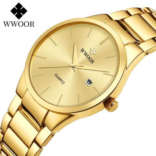 Đồng hồ đeo tay cho nam WWOOR cao cấp bằng thép không gỉ chống nước - INTL