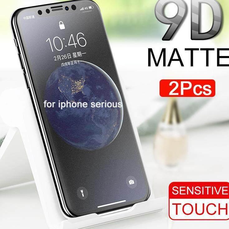 2 Pcs Frosted Matte Kaca untuk iPhone SE Kaca Antigores Kekerasan 9 H Iphone 6 7 8 11 Explosion-Proof Kaca Pelindung untuk iPhone X XR XS Max 6 6 S 7 7 Plus