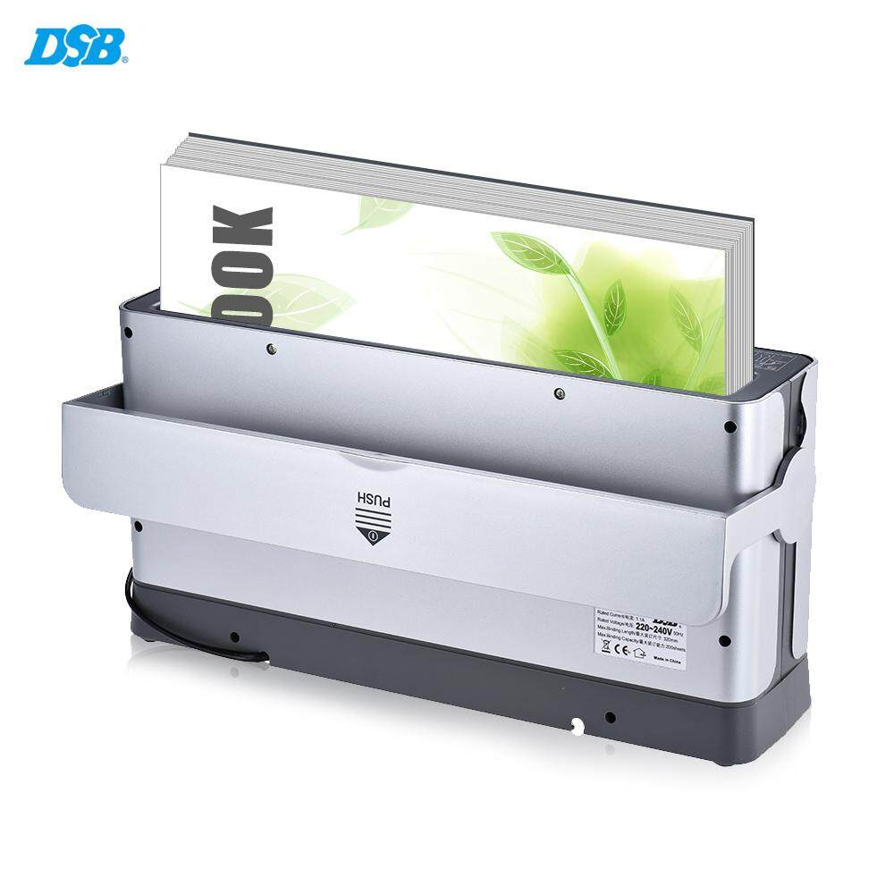 (free Uk Plug)dsb Tb-200e A4 Paper Book Thermal Binder Binding Machine 3min Warmup 1.5min Quick Binding With Led Indicator Cooling Rack Dust-Proof Cover Energy Saving By Office Show.