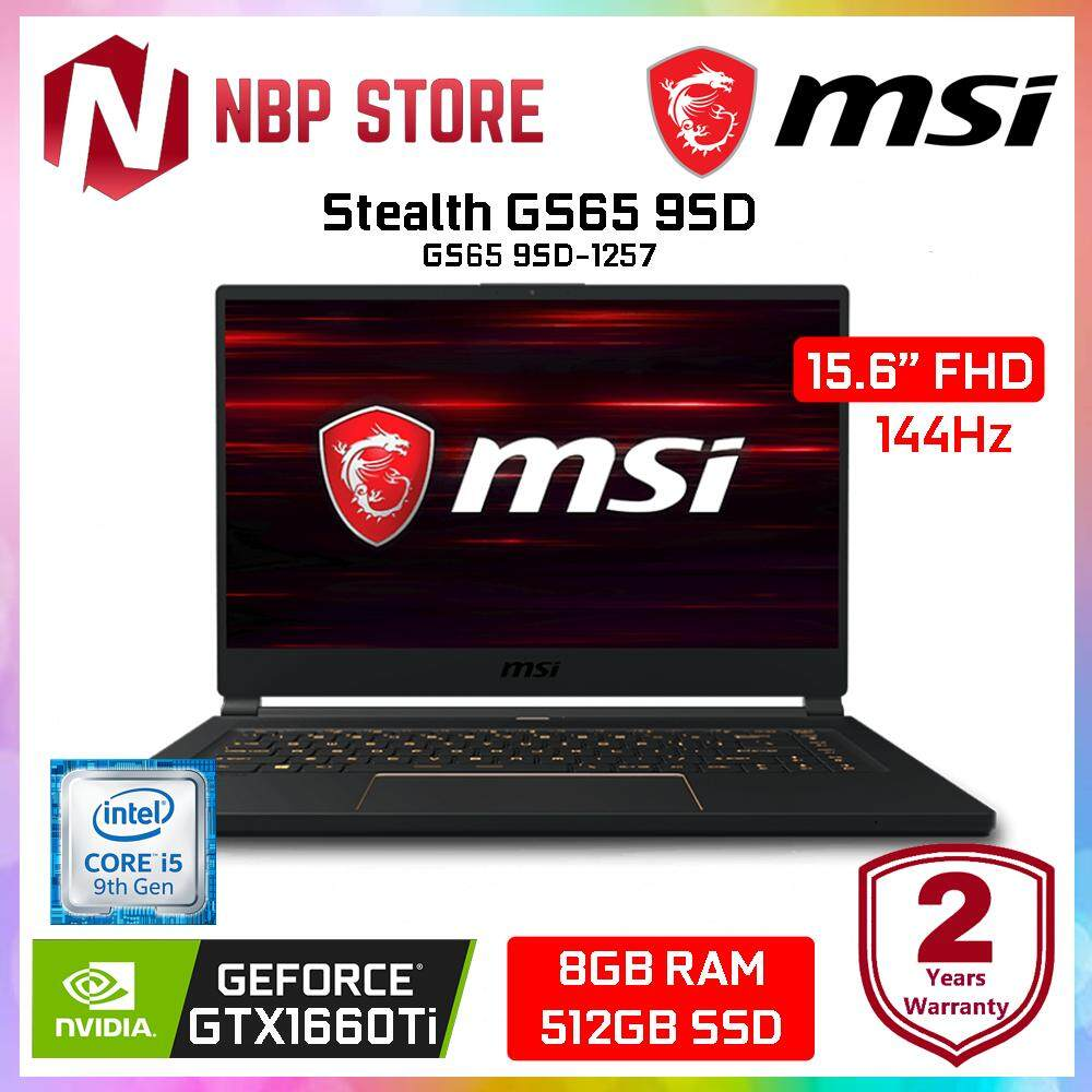 MSI Stealth GS65 9SD-1257 15.6 FHD 144Hz Gaming Laptop ( i5-9300H, 8GB, 512GB, GTX1660Ti 6GB, W10H ) Malaysia