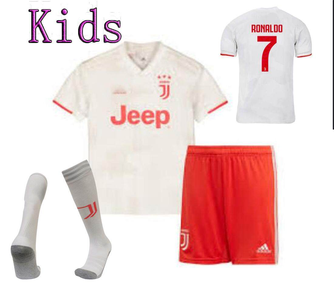 buy popular 988c9 3f4b6 Free Socks Kids #7 Ronaldo Juventus Away Jersey & Shorts for Kids Children