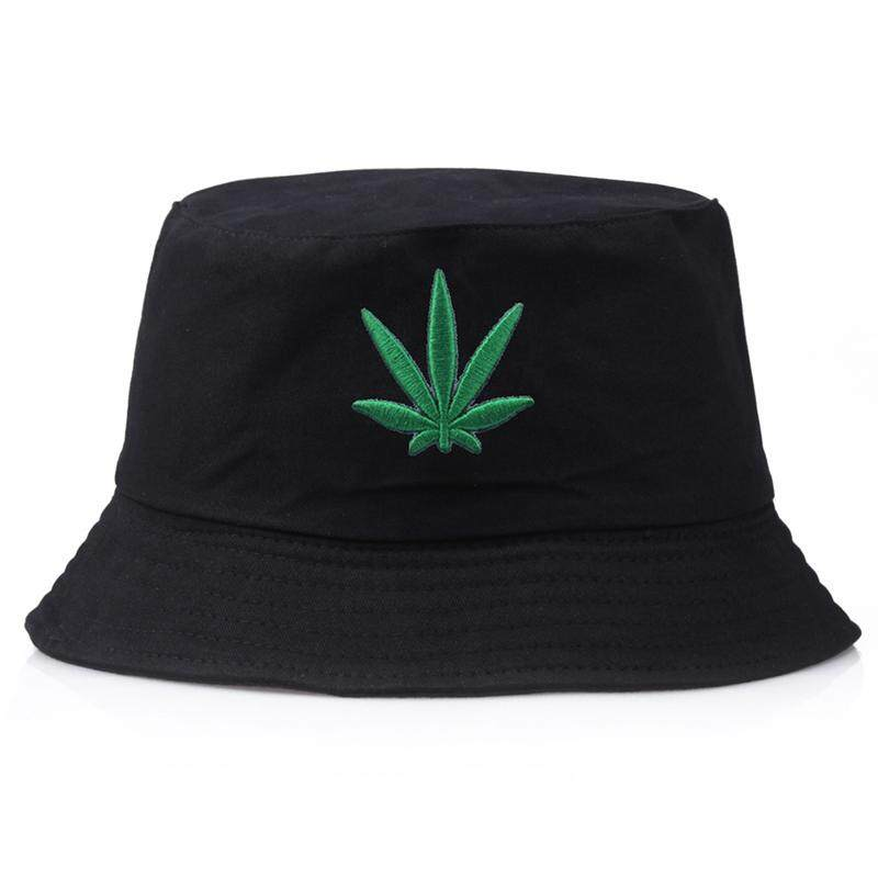 0a633e4ef Acagedem Leaf Embroidered Folding Fisherman Sun Hat Outdoor Men Women  Bucket Cap