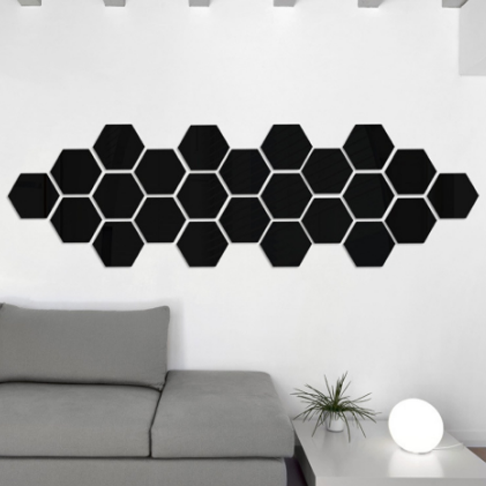 1 Đơn Giản 3D Stereo Gương Dán Sáng Tạo Đa Giác Phòng Ngủ Phòng Khách Truyền Hình Nền Trang Trí Tường giá rẻ