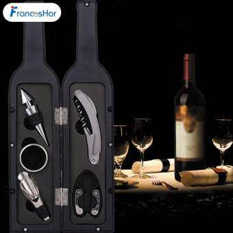 Frances 1 เซ็ต 3 ชิ้น/5 ชิ้นไวน์ขวดเกลียวชุดเครื่องมือรูปขวดที่วางที่เปิดขวดของขวัญ