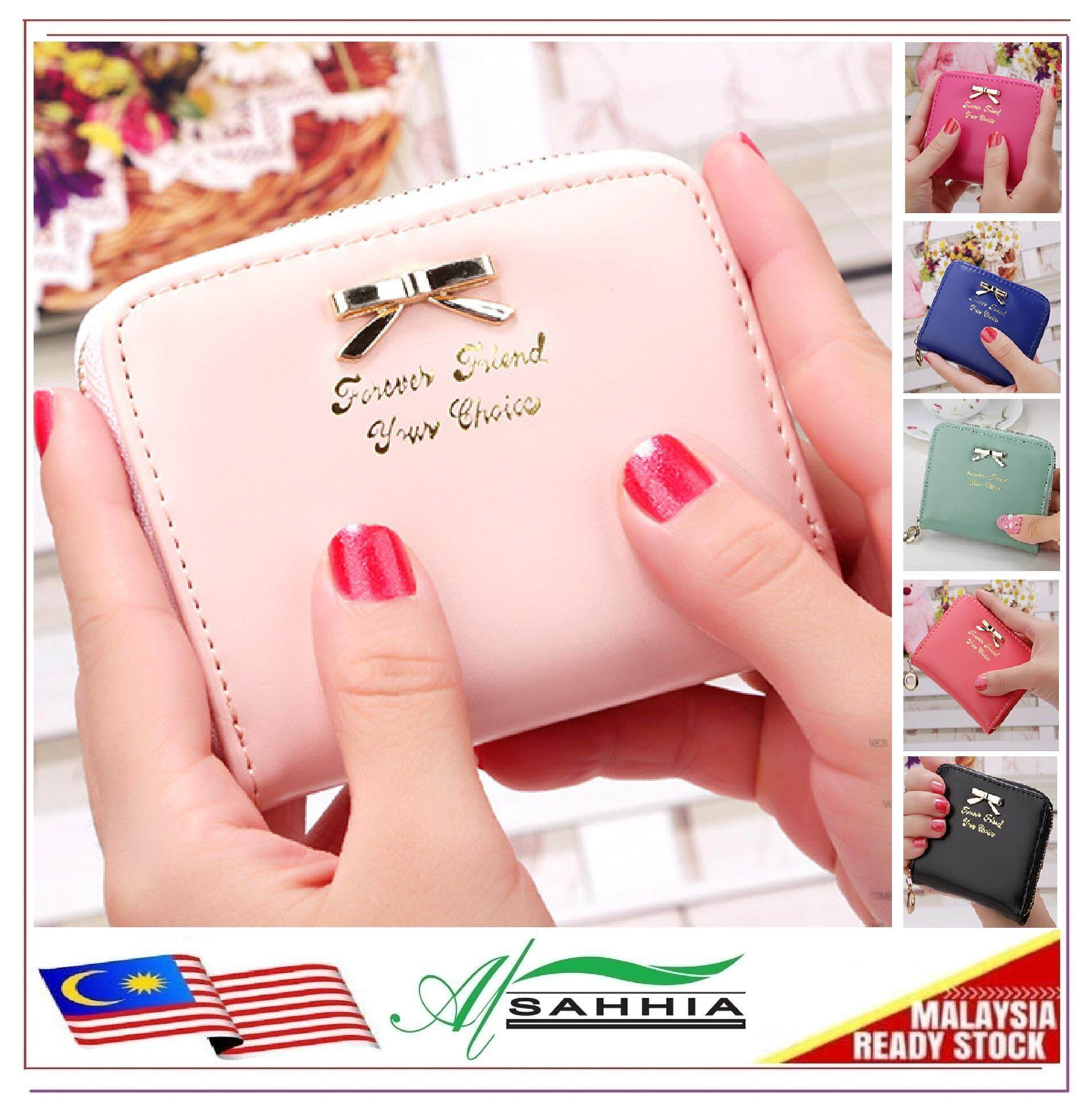 15W3 Al Sahhia Forever Short Ultra-thin Wallet Women Multi-slot Zip Purse