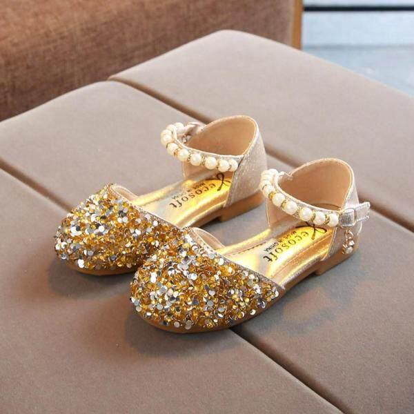 Giá bán Giày Công Chúa KIO Cho Bé Gái, Giày Xăng Đan Một Mảnh Đính Ngọc Trai Lấp Lánh Cho Trẻ Sơ Sinh Và Mới Biết Đi