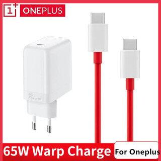 Chính Hãng Cho Oneplus 8T Sạc Dọc 65W Bộ Chuyển Đổi Nguồn EU Bộ Sạc Nhanh Gắn Tường 6A Loại C Sang Loại C Cáp OnePlus 9 Pro 9R 8 Nord N100 thumbnail
