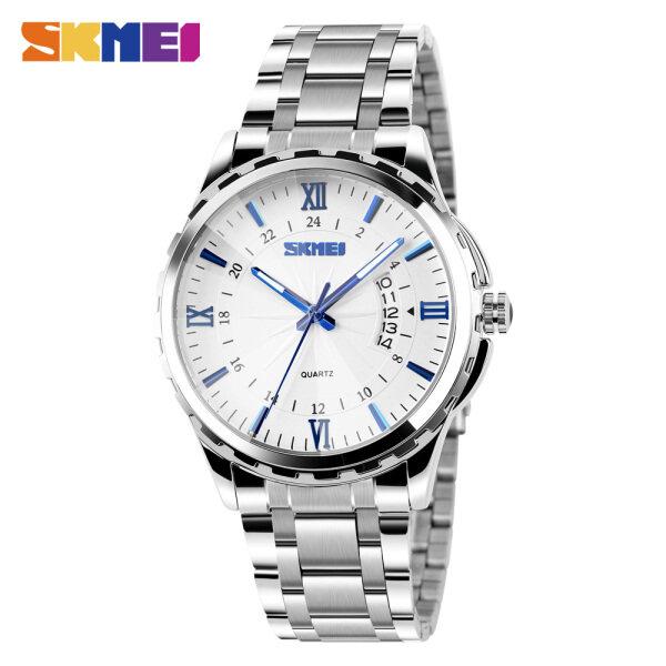 SKMEI Men Fashion Watch Business Quartz Stainless Steel Fashion Waterproof Casual Wristwatches 9069 Malaysia