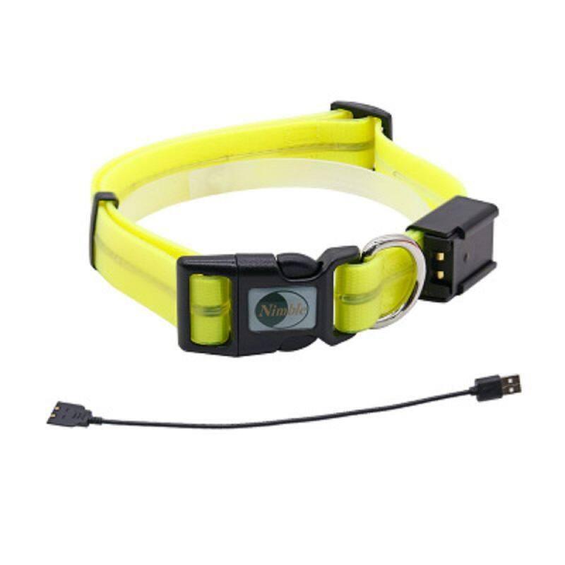 Thời Trang Có Thể Sạc Qua USB Loại Vòng Cổ Cho Thú Cưng PVC Đèn LED Chống Nước Dạ Quang Cho Chó