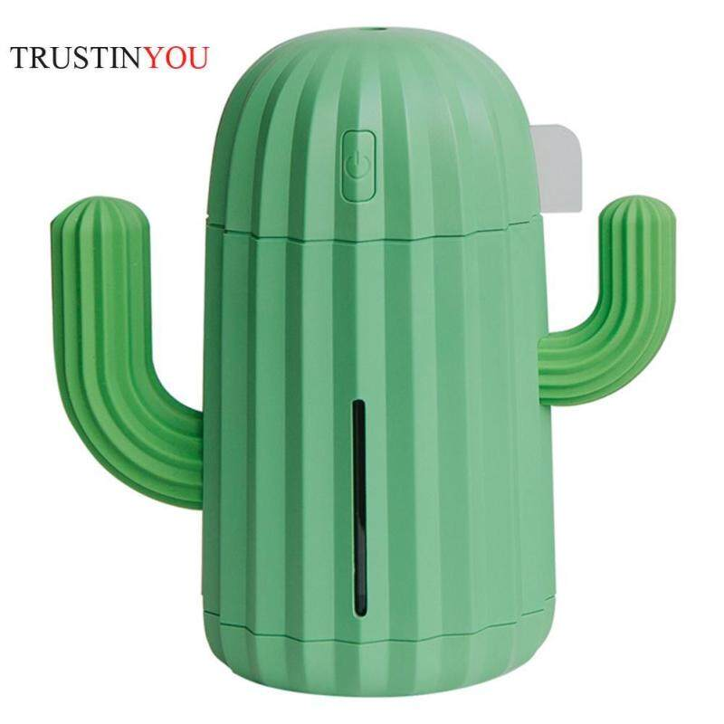 [trustinyou]340mL Cactus USB Air Humidifier LED 7 Color Lamp Aromatherapy Oil Diffuser Singapore