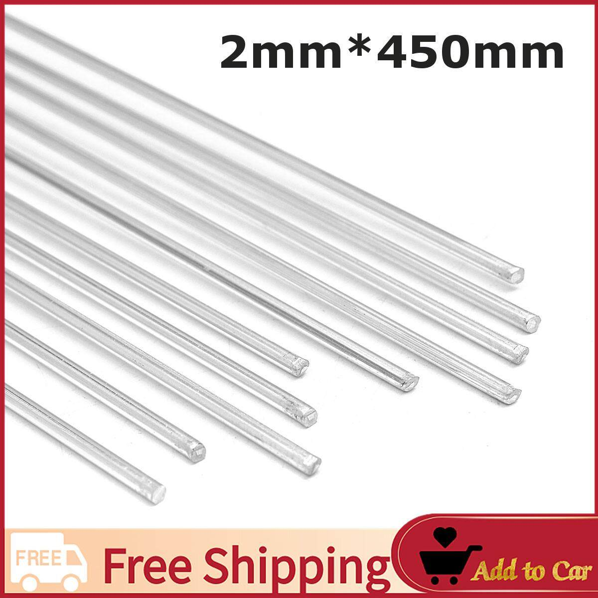 【Free Shipping】10pcs 2mm Aluminium Low Temperature Welding Brazing Rod For all AL Parts 45cm