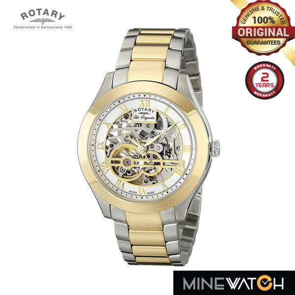 Rotary Jura 42mm Gold Dial Silver Gold Stainless Steel GB90515/10 Malaysia