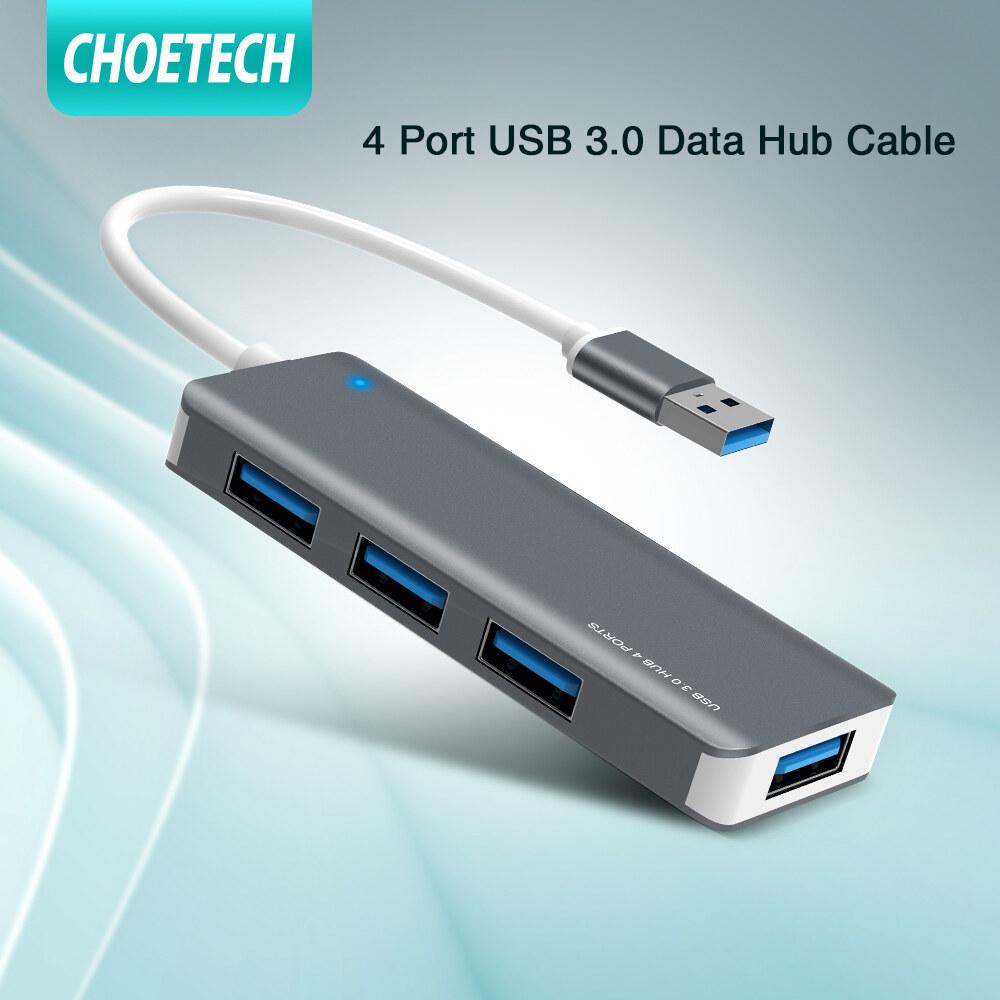 Choetech 4-Port Usb 3.0 Data Hub Cable อุปกรณ์ซิงค์ข้อมูลเข้ากันได้กับ Macbook, Pc,แล็ปท็อป,usb Flash Drive.