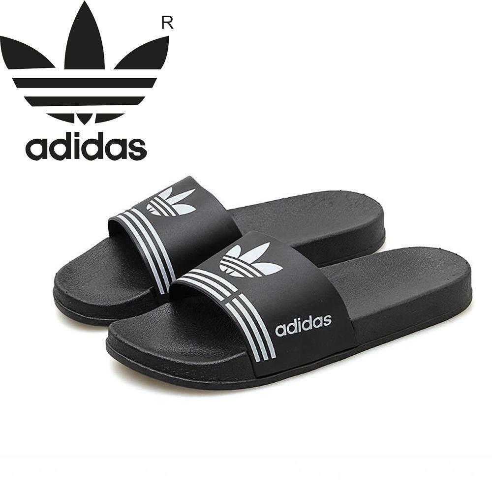 Produk Baru Mode Musim Panas Kualitas Tinggi Original_Adidas Sandal Wanita dan Pria Sederhana Sandal Nyaman Sandal Tebal Kasual Bawah Non-Slip Sandal Pantai
