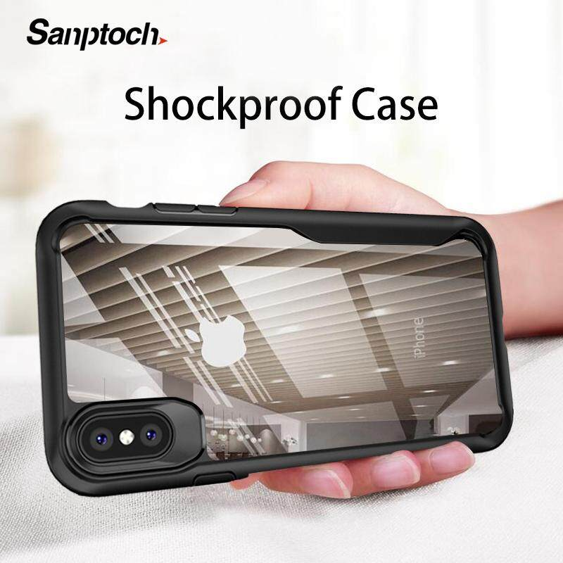 Sanptoch Chống Sốc Armor Cho IPhone 11 Pro Max XS Max XR X 8 7 6 6 S 6 S Plus Trong Suốt ốp Lưng Cho IPhone 5 5S SE Cao Cấp Ốp Lưng Silicone Cover Vỏ Với Giá Sốc