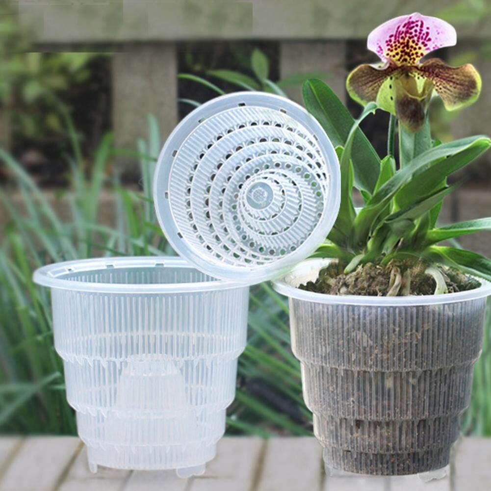 Flower Pot Succulent Orchid PP Clear Fleshy Home Mesh Gifts Gardening Desktop