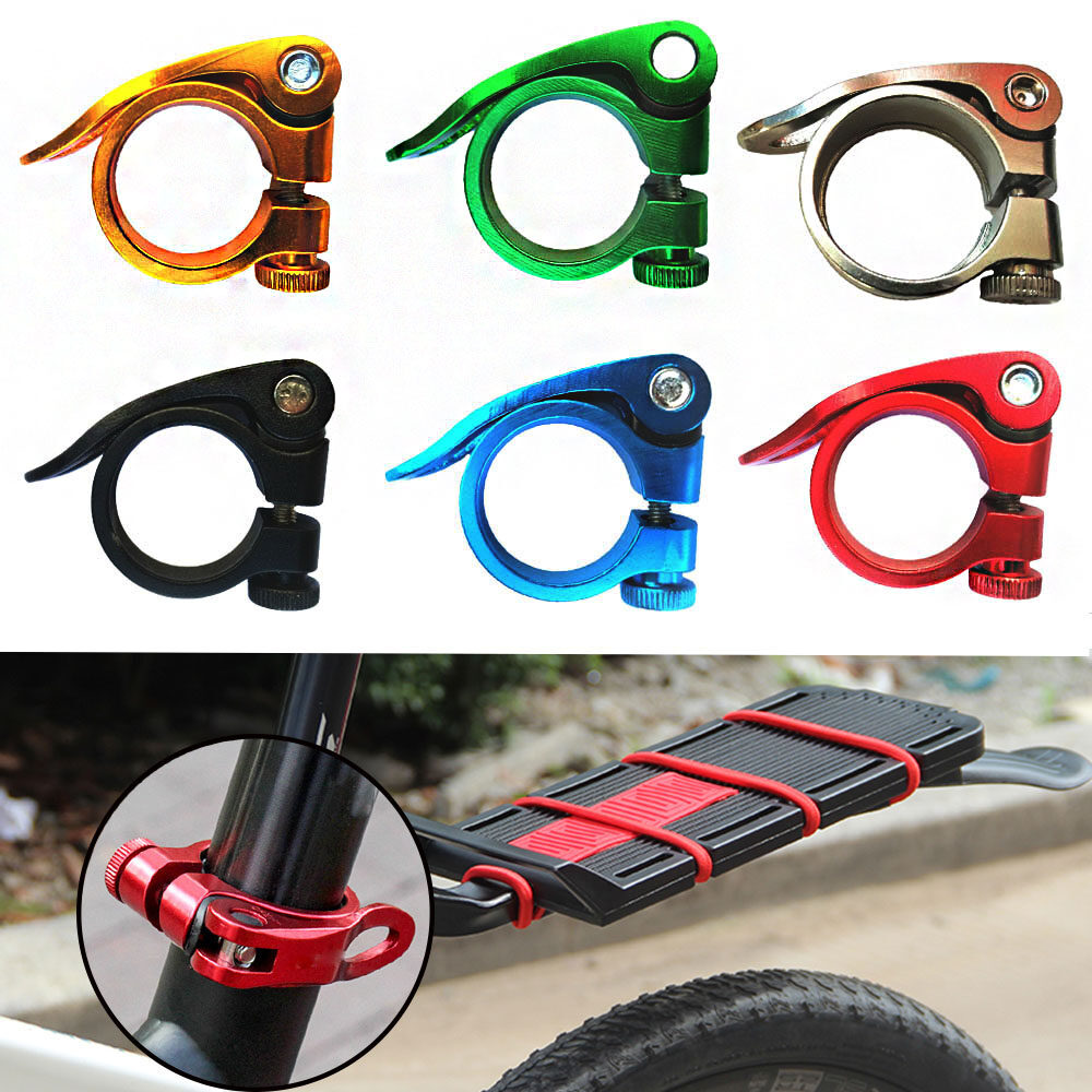 31.8mm Aluminum Alloy Bicycle Seatposts Clamp Saddle Fixed Cycling Spare Element
