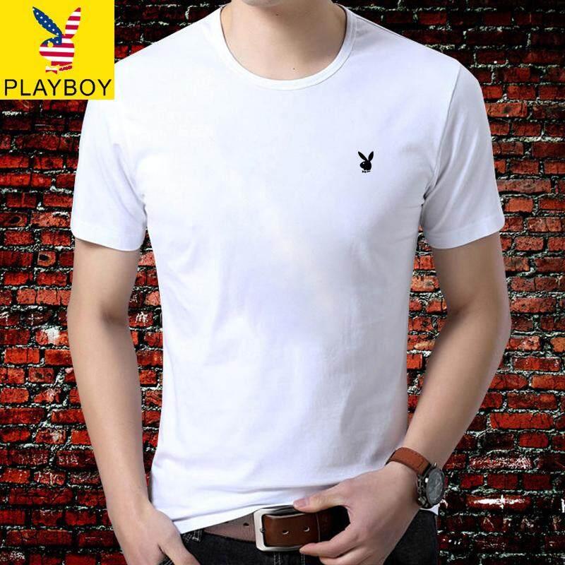 a30ceb47a Play Boy Short-sleeved T-shirt Summer Men's Round Neck Trend Men's T-