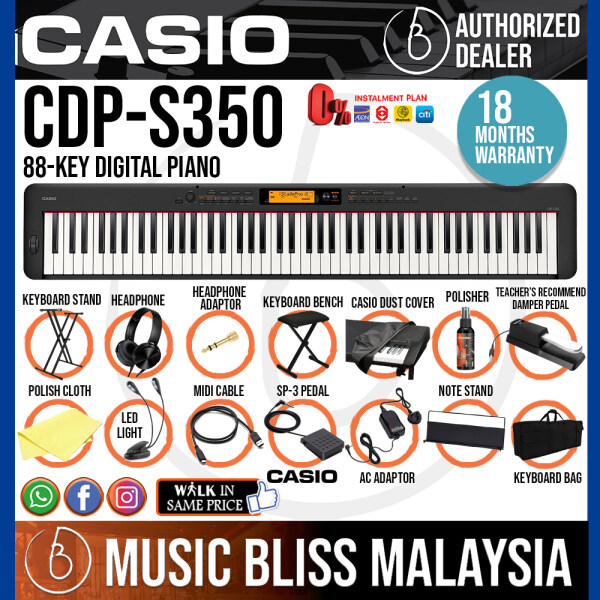 Casio CDP-S350 88-key Digital Piano Super Value Portable Package (CDPS350) Malaysia