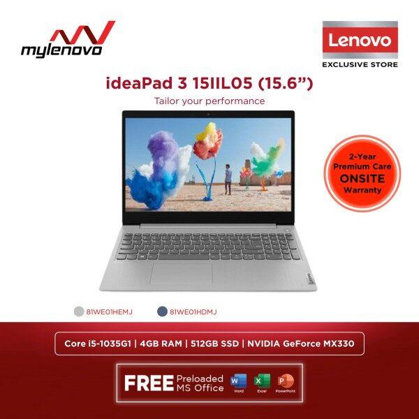 Lenovo IdeaPad 3 15IIL05 Intel Core i5-1035G1 4GB 512GB NVIDIA MX330 Malaysia