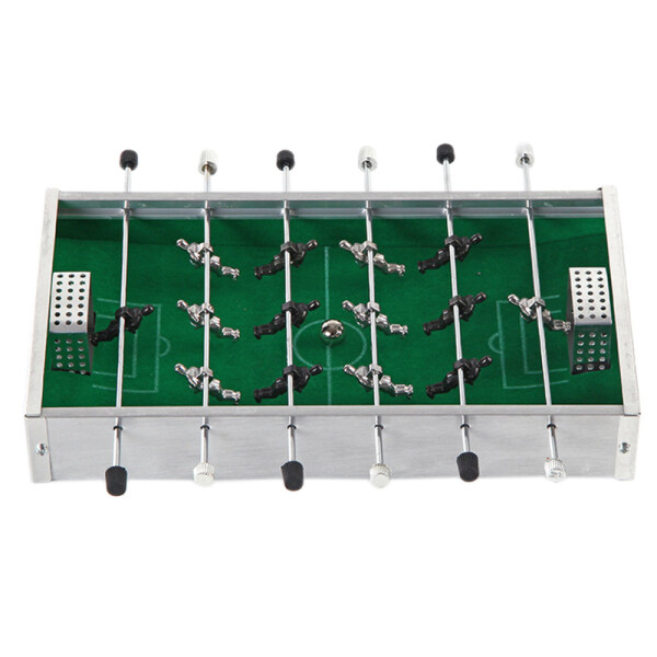 Mini Aluminum Alloy Table Football Desk Top Foosball Game Set Kids Toys Metal Foosball for Children Gift Board Game