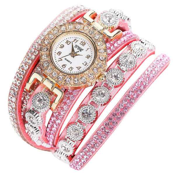 CCQ Women Fashion Casual Analog Quartz Women Rhinestone Watch Bracelet Watch BG Malaysia