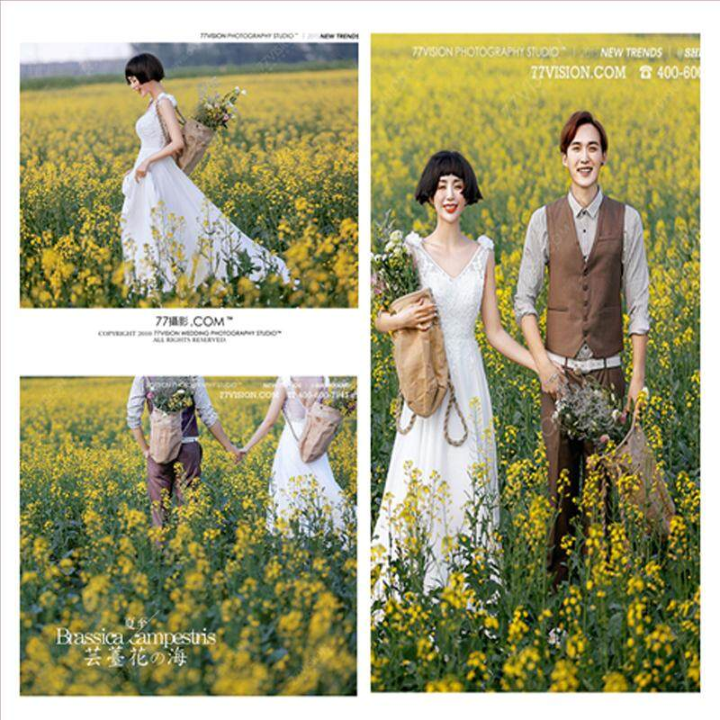 Creative DIY Linen Backpack Popular Wedding Dress Photographic Prop Korean Style Studio Exterior Photo Theme Photographic Prop