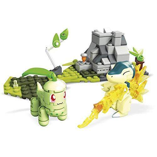 Mega Construx Pokemon Chikorita Vs  Cyndaquil Dom Building Set