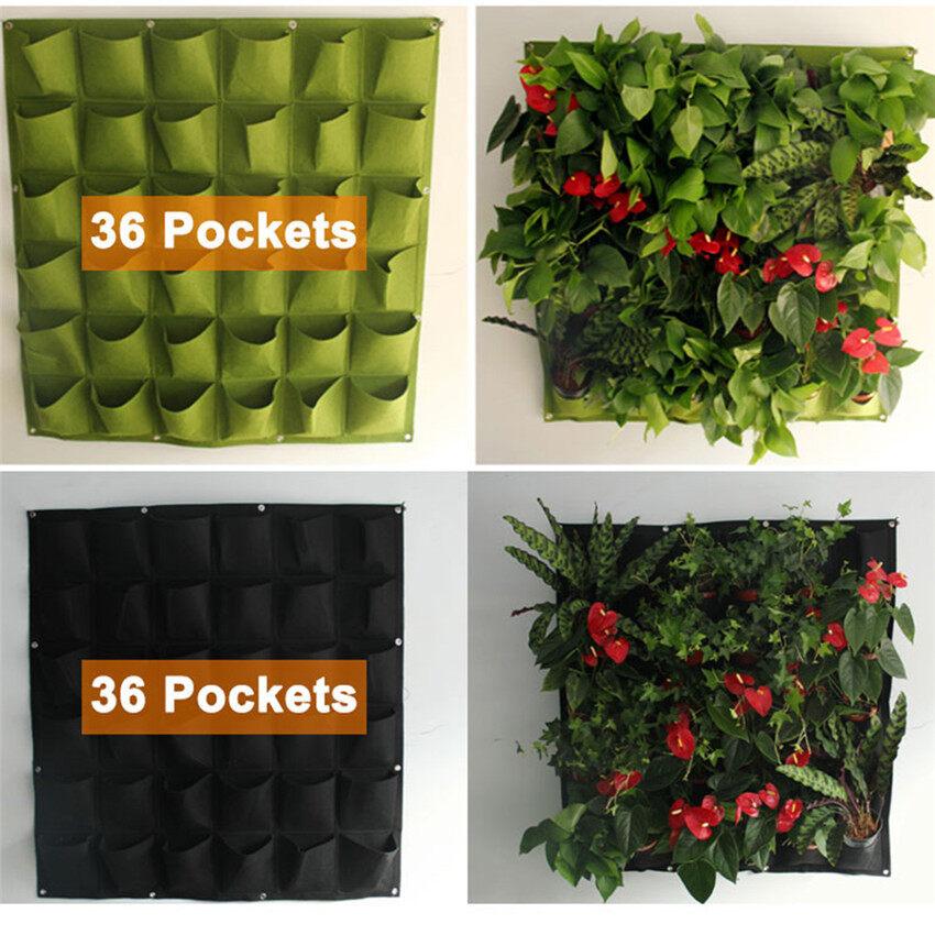 Treo Tường Trồng Cây Cảnh Túi Túi Xanh Phát Triển Túi Dụng Cụ Bào Dọc Hoa Vườn Cung Cấp