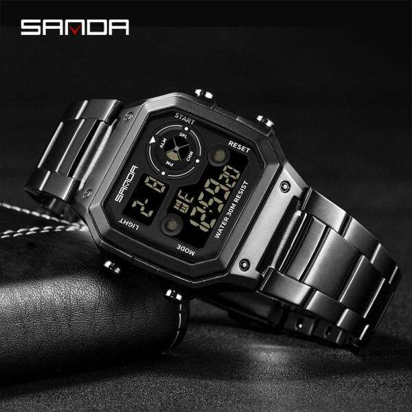 Men Watch New Listing Original Stainless Steel Waterproof Sports Luxury Brand Mens Watch Digital Watch Men Fashion Countdown Swimming Watch Malaysia