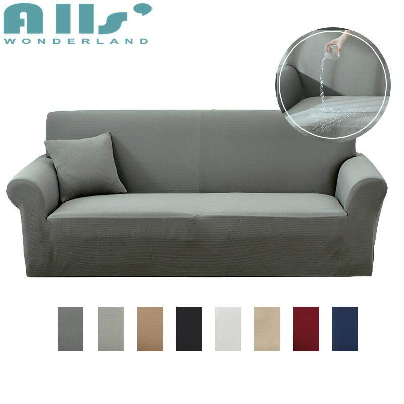 【SOFA COVER】1 2 3 4 Seater Waterproof Dustproof Slipcover Single Double  Sofa Cover Solid Color Multi-sizes Multi-colors Slipcover