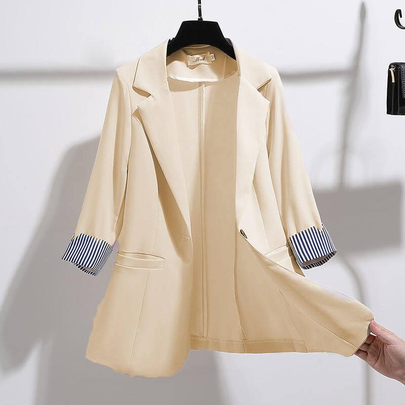 Super Cai Áo Khoác Mỏng Cho Nữ, Áo Vest Mỏng Tay 2021 Phong Cách Hàn Quốc Mới Mùa Xuân Hè 3/4