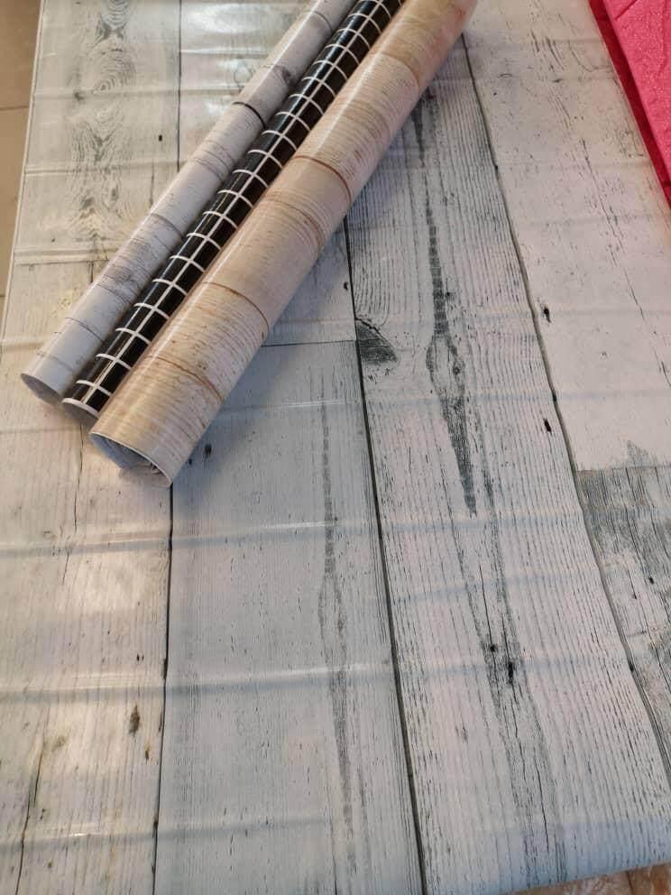 3 roll Wood Design Wallpaper sticker 1M Waterproof