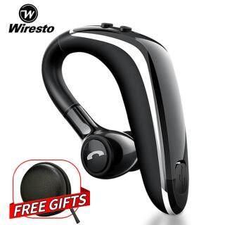 Wiresto Tai Nghe Bluetooth Không dây Tặng kèm cáp sạc Nút nhét tai nghe (Bắt mày bằng giọng nói) Điều khiển bằng giọng nói Chip Bluetooth CSR của Mỹ trực tuyến với micro điều khiển bằng giọng nói thumbnail