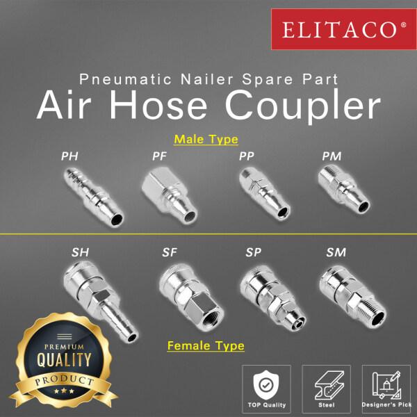 【ELITACO】Coupler Air Hose Compressor Pneumatic Connector Socket Nailer Tacker High Pressure PF PH PM SM SH