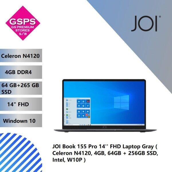 JOI Book 155 Pro 14 FHD Laptop Gray ( Celeron N4120, 4GB, 64GB + 256GB SSD, Intel, W10P ) Malaysia
