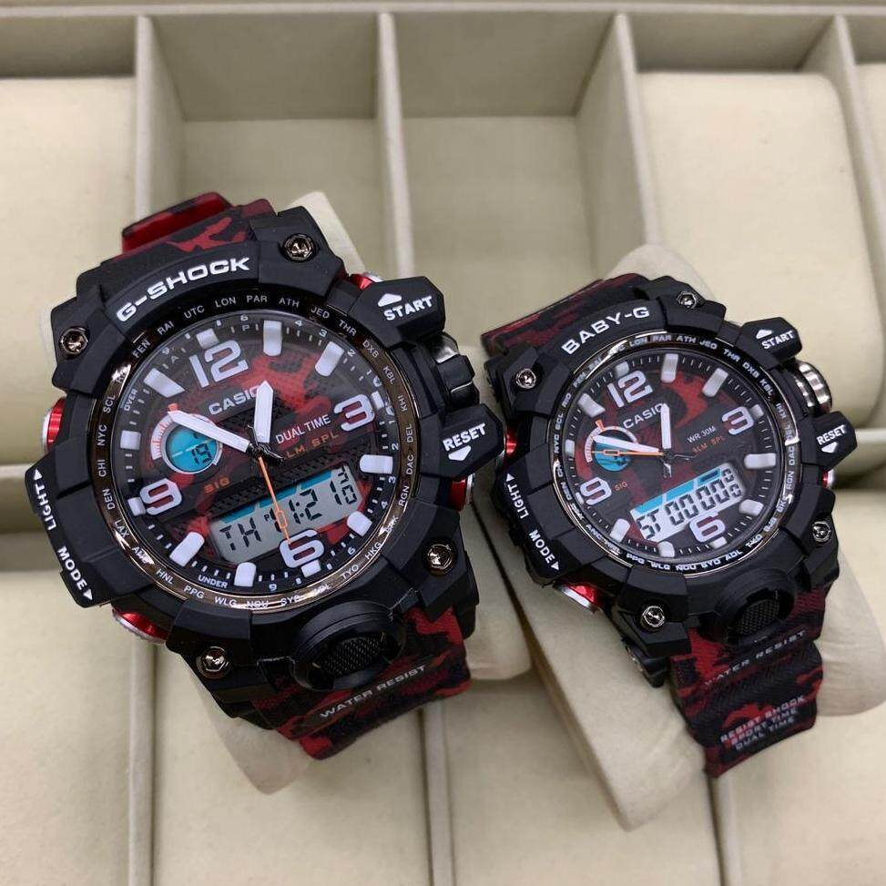 SPECIAL PROMOTION CASIO_ G SHOCK_ DUAL WATCH FOR COUPLE(mudmaster) ARMY RED SPECIAL PROMOTION Malaysia