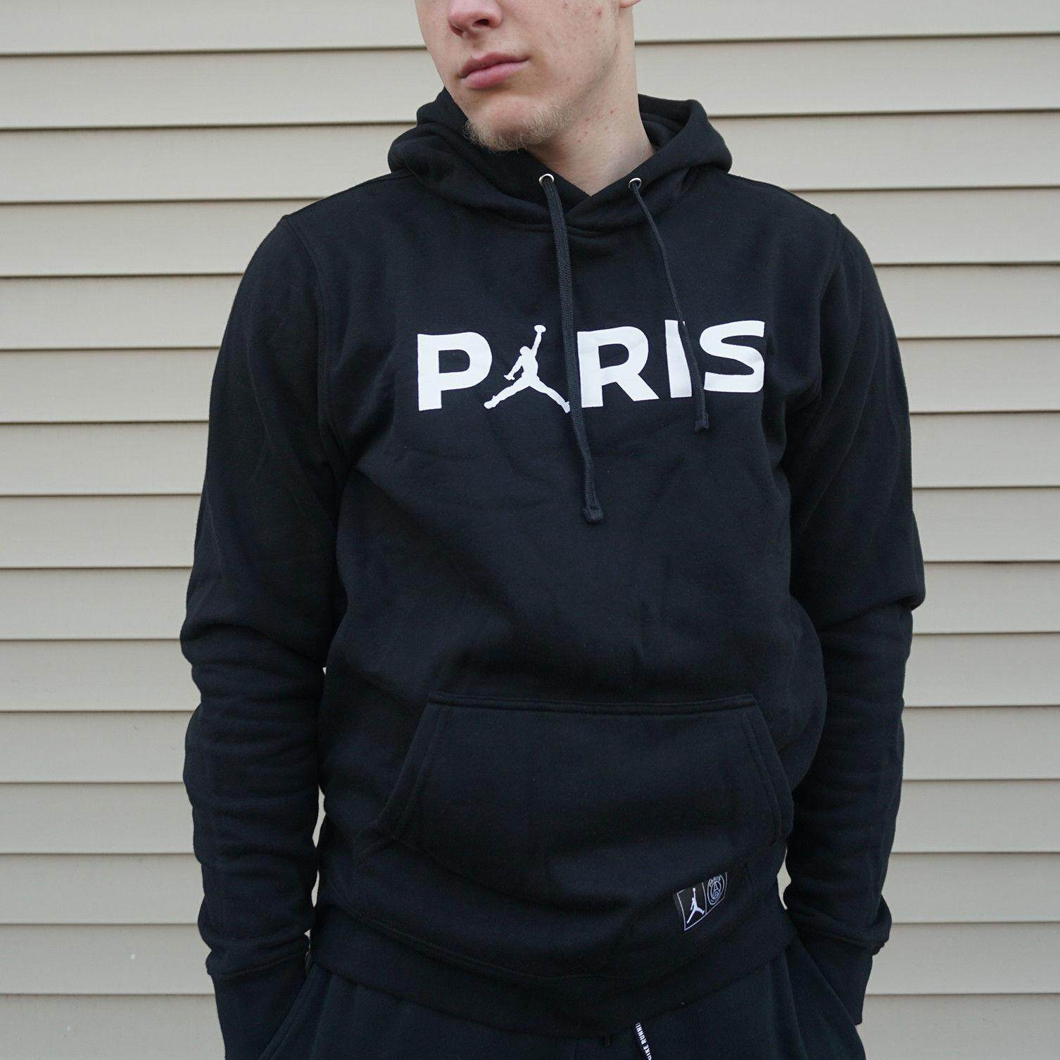 649b428f6 Paris Saint-Germain PSG x Jordan JUMPMAN Hoodie Pullover Nike Air Football  Soccer Sweater