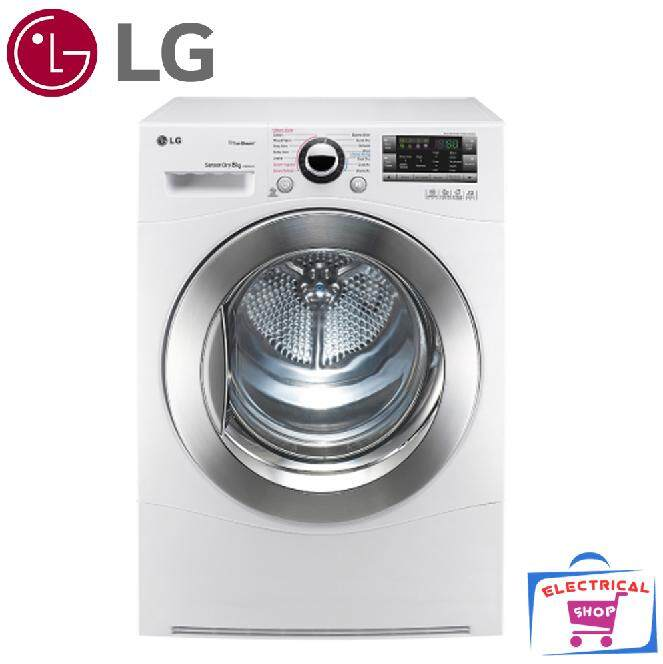 LG Dryer TDC8066WS 8kg with True Steam and Sensor Dry TD-C8066WS