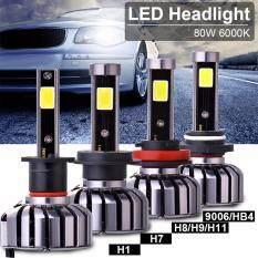 1 Pair 80W 9600LM LED H1 Headlight Headlamp Light Kit Beam Bulb High Power