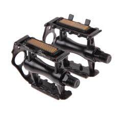 [cheerfulhigh]1 Pair Bmx Mtb Aluminium Alloy Mountain Bicycle Cycling 9/16\ Pedals Flat(black) By Cheerfulhigh.