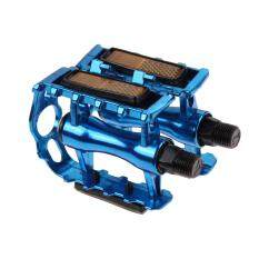[cheerfulhigh]1 Pair Bmx Mtb Aluminium Alloy Mountain Bicycle Cycling 9/16\ Pedals Flat(blue) By Cheerfulhigh.