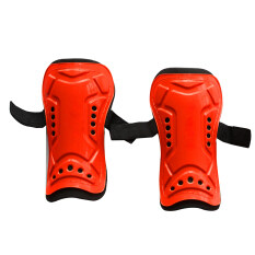 1 Pair Competition Pro Soccer Shin Guard Pads Shinguard Protector Red By Vegoo.
