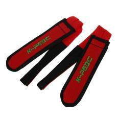 1 Pair Fixed Gear Fixie Bmx Bike Bicycle Double Velcro Pedal Toe Straps Red By Superbuy888.