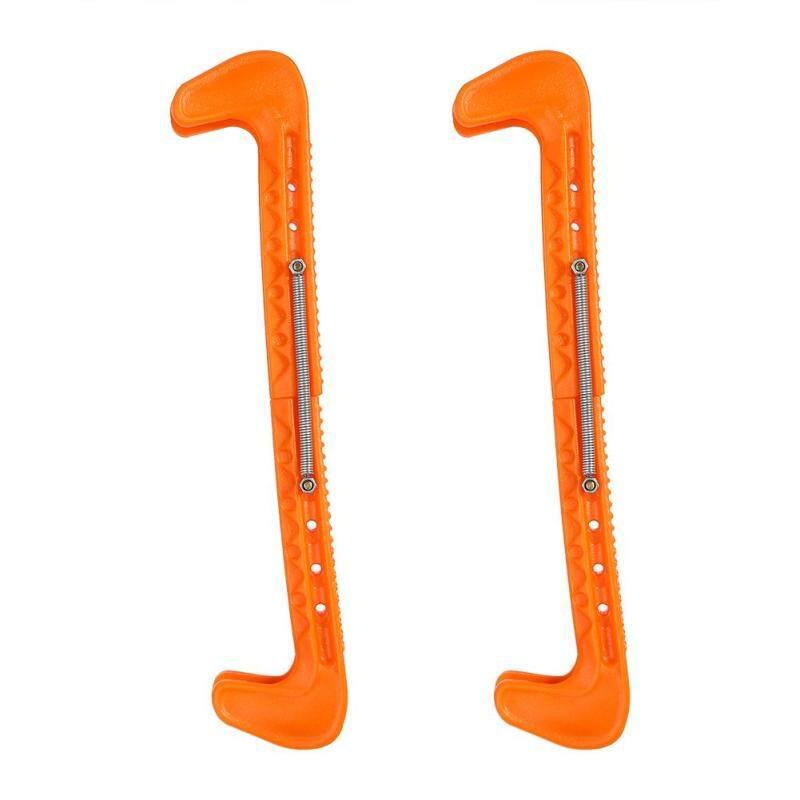 Mua 1 Pair Plastic Ice Hockey Skate Blade Guards Covers Adjustable (orange)