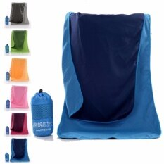 100*30cm Microfiber Quick Drying Towel Compact Travel Camping Swimming Beach Bath Body Gym Sports Towel (blue) By Crc Mall.