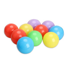 10pcs 8cm Soft Plastic Ocean Ball Colorful Ball Fun Ball Kids Swim Pit Toys By Welcomehome.